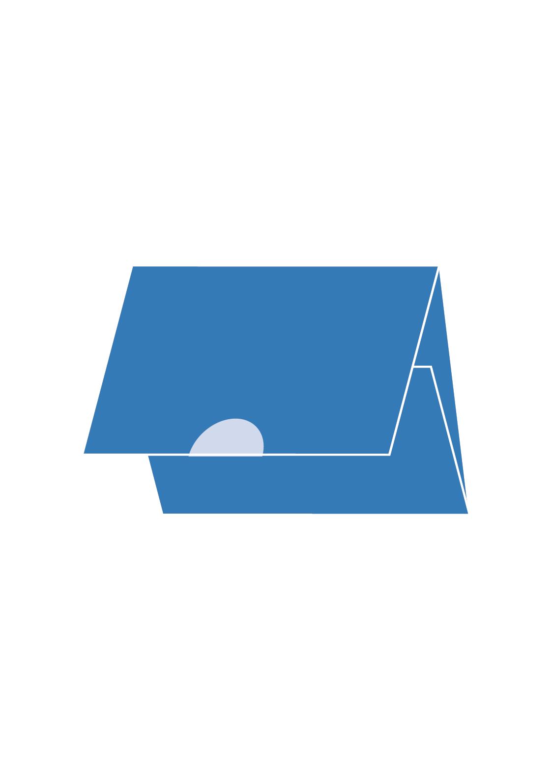 2 Slagen wikkel-vouw met 1 sluitzegel
