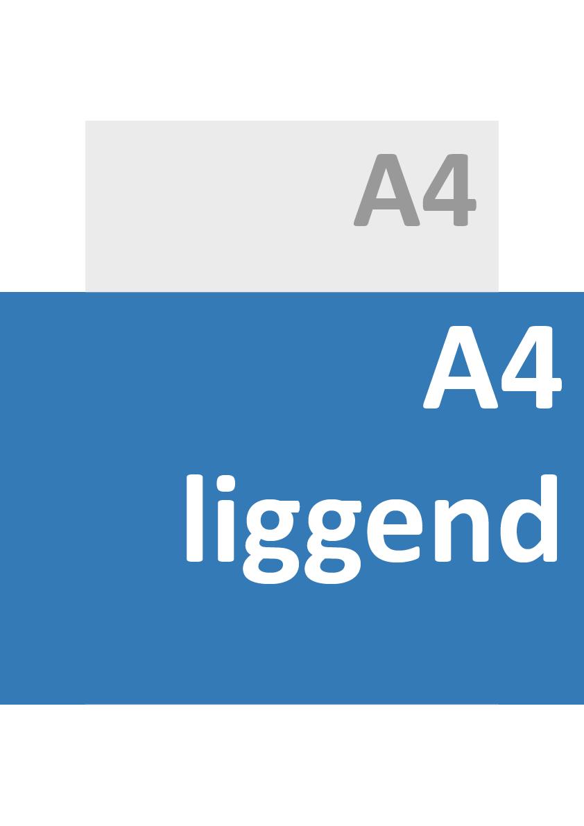 A4 Liggend Formaat