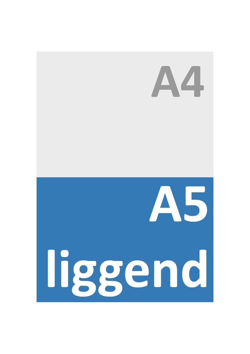 A5 Liggend Formaat